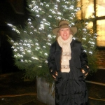 Penelope Keith lights Milford Christmas Tree